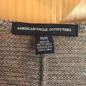 American Eagle Outfitters Sweaters - American Eagle Cardigan Sweater. Tan w/ charcoal.